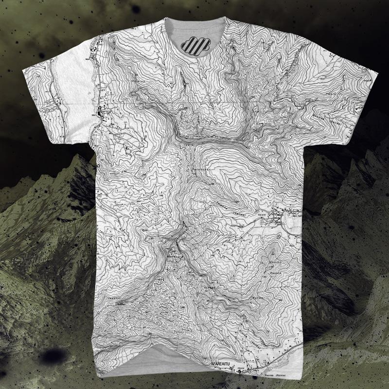 Snowrev Topo Map Shirt