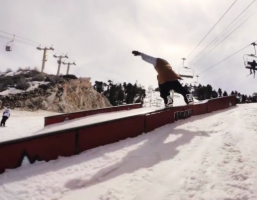Michi Schatz Snowboarding Bear Mountain