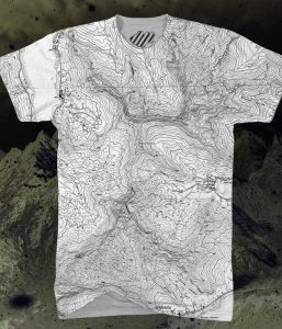 Mountain Topo Map Shirt